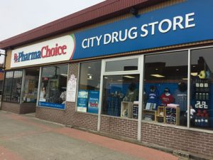 The City Drug Store ParmaChoice store front in Yarmouth, NS