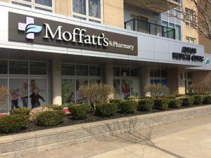 The Moffatt's Pharmacy storefront in Halifax