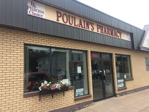 Store front of Poulain's PharmaChoice