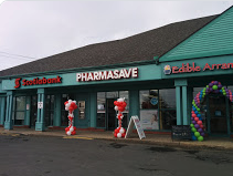 Storefront of Bowman's PharmaSave in Fredricton