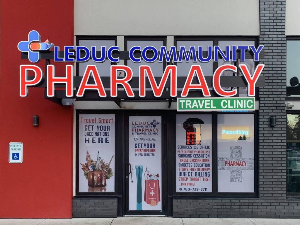Leduc Community Pharmacy in Leduc, Alberta, Front View