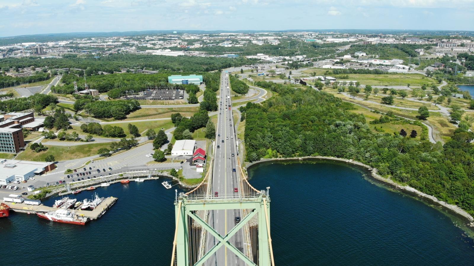 View of the bridge in Dartmouth, Nova Scotia