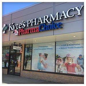 Kytes Pharmacy in Dartmouth, Nova Scotia, Front View