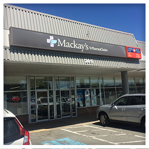 Mackay's PharmaChoice in Dartmouth, Nova Scotia, Front View