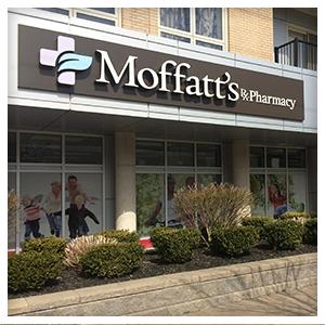 Moffatt's Pharmacy in Dartmouth, Nova, Side view