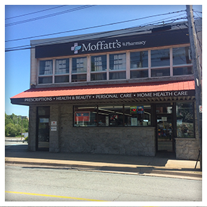 Moffatt's Pharmacy in Dartmouth, Nova, Front View