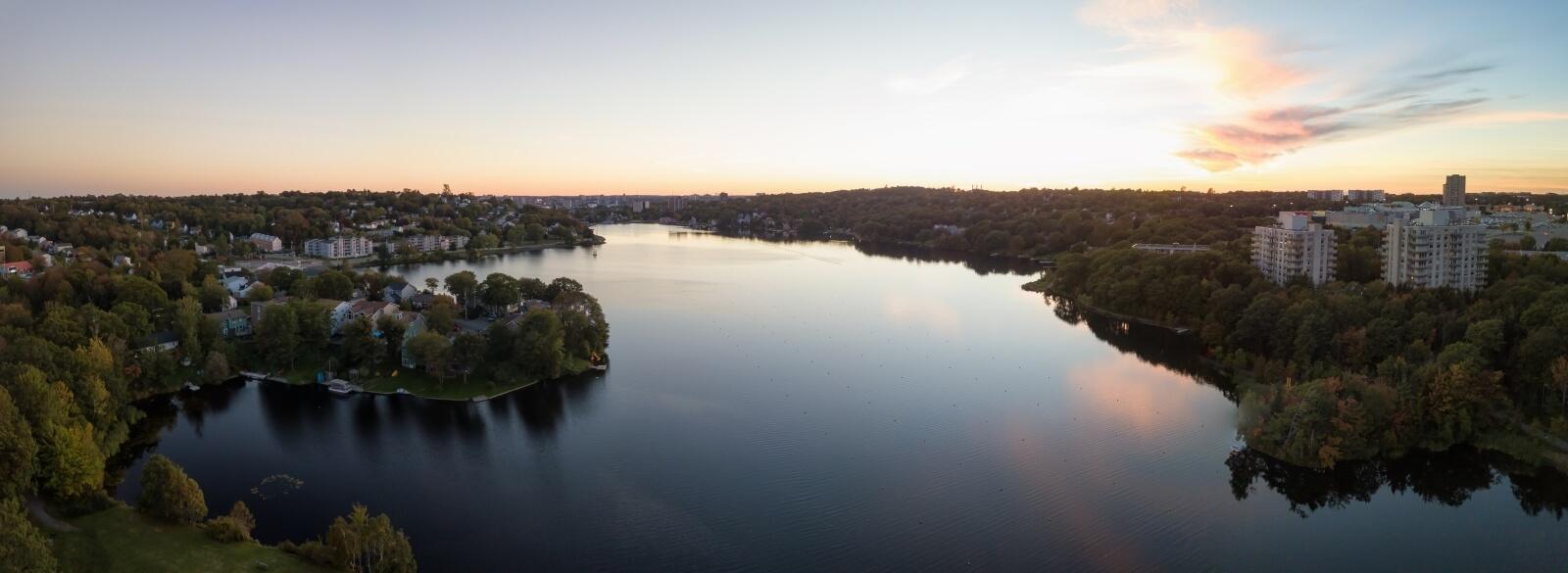 View of a lake in Dartmouth, Nova Scotia