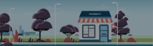Illustration of a pharmacy