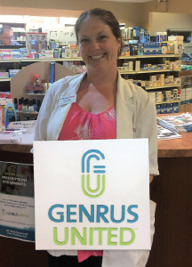Women Posing with a Genrus United Logo